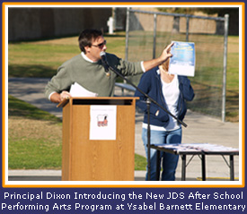 Principal Dixon Introducing the New JDS After School Performing Arts Program at